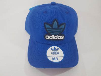Boné Strapback Adidas - Aba curva - Azul  royal