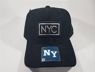 Boné Strapback NY - Aba curva