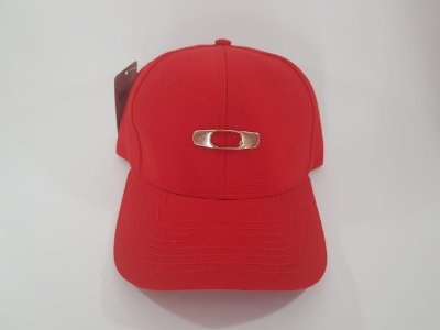 Boné Fechado OAKLEY - Aba curva - Vermelho