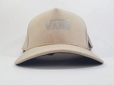 Boné Snapback Refletivo Vans - Aba curva - Bege