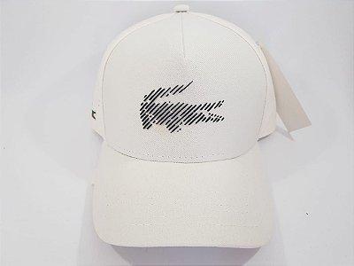 Boné Strapback Lacoste - Aba curva - Branco