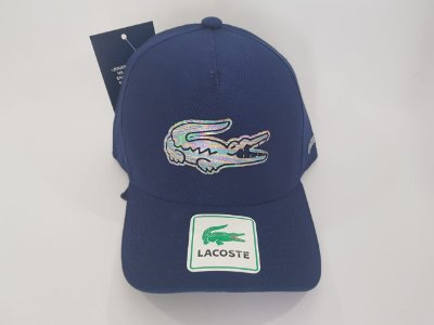 Boné Strapback Lacoste - Aba curva - Azul Marinho