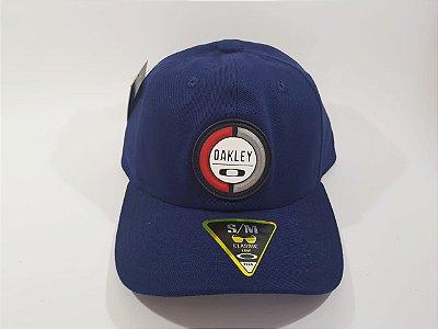 Boné Strapback OAKLEY - Aba curva - Azul marinho