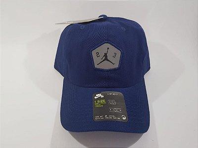 Boné Strapback Jordan Nike Refletivo - Aba curva - Azul marinho