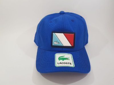 Boné Strapback Lacoste - Aba curva - Azul royal