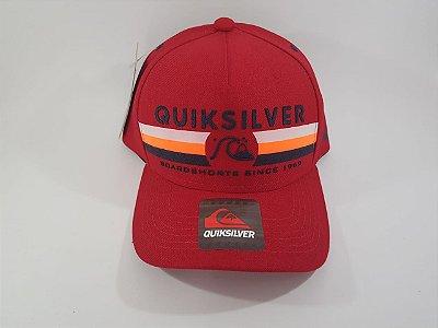 Boné Snapback QuikSilver - Aba curva - Vermelho