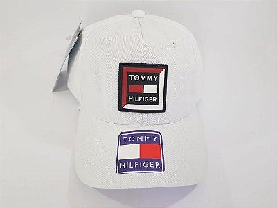 Boné Strapback Tommy Hilfiger - Aba curva - Branco