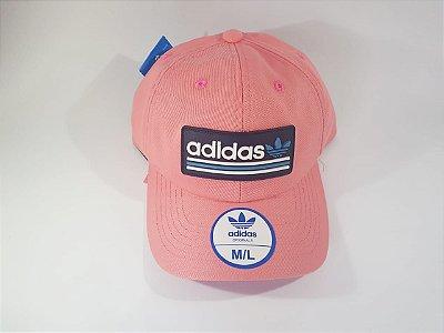 Boné Strapback Adidas - Aba curva - Rosa