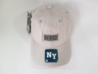 Boné Strapback NY Refletivo - Aba curva - Nude (Gelo)