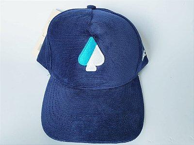 Boné Snapback MCD - Aba Curva - Aveludado - Azul Marinho