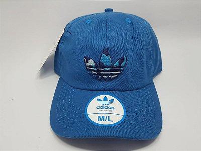 Boné Adidas Strapback  - Aba curva - Azul royal