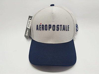 Boné AÉROPOSTALE - Velcro - Aba curva - Cinza e Azul marinho