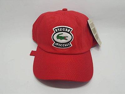 Boné Lacoste Casual - Vermelho - Strapback - Aba curva
