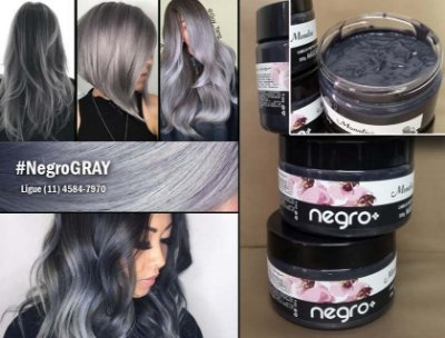 Tonalizante Negro GRAY - cabelos negros e cinzas