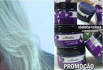 Máscara Matizadora, desamareladora (violeta+ cinza) 300gr
