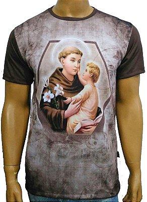 Santo Antonio moldura marrom