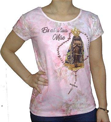 Camiseta Feminina Eis a Tua Mãe Aparecida