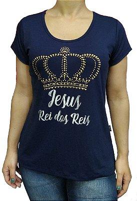 Blusa de Viscolycra Rei dos Reis Az Dourada