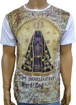 Camiseta-Aparecida-Nicho-News-Bordada