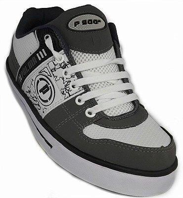 Tênis Skate Pulma Grafite, Branco e Preto