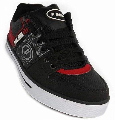 Tênis Skate Preto e Vermelho