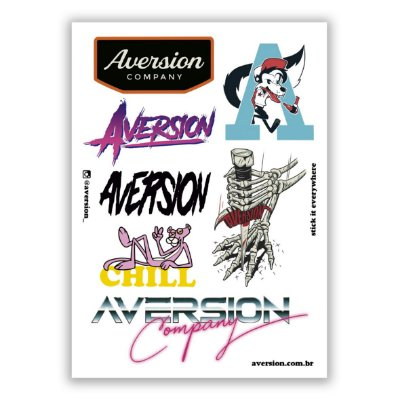 Cartela de Adesivos Aversion