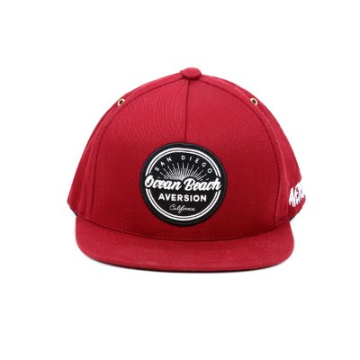 Boné Aversion Snapback Aba Reta Vinho - Model Ocean Beach