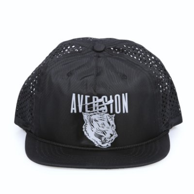 Boné Aversion Performance Trucker Snapback Aba Reta Impermeável Preto - Model Tiger