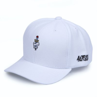 Boné Aversion Snapback Aba Curva Branco - Model Dagger