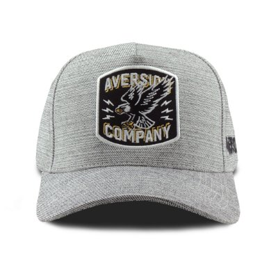 Boné Aversion Snapback Aba Curva Cinza - Model Eagle Patch