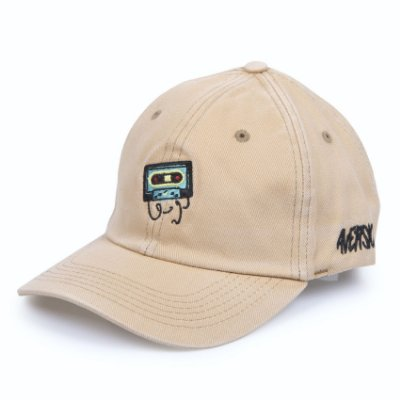 Boné Aversion Dad Hat Aba Curva Bege Estonado - Model K7