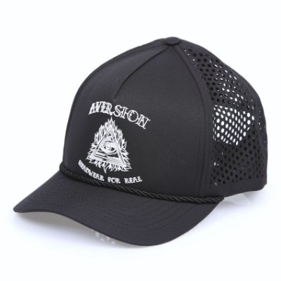 Boné Aversion Performance Trucker Snapback Aba Curva Preto - Model Eye
