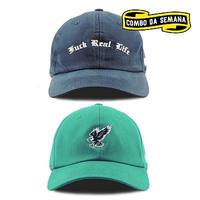 COMBO | 2 Dad Hats - Life/Eagle | FRETE GRÁTIS