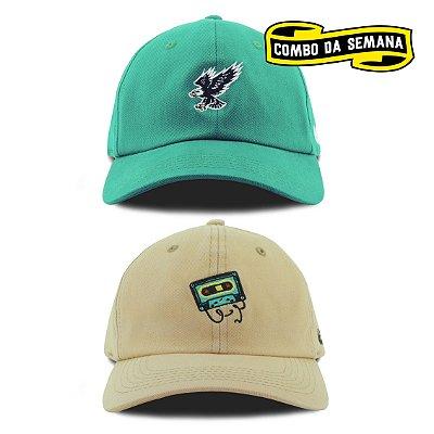 COMBO | 2 Dad Hats - Eagle/K7 | FRETE GRÁTIS