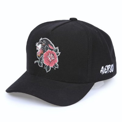 Boné Aversion Snapback Aba Curva Preto - Model Panther
