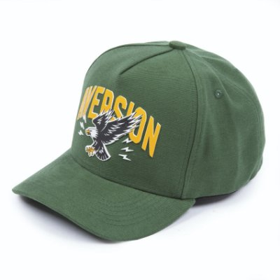 Boné Aversion Snapback Aba Curva Verde - Model College