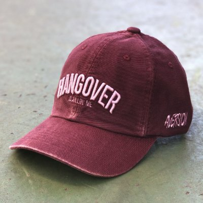 Boné Aversion Dad Hat Aba Curva Vinho Estonado - Model Hangover