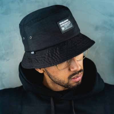 Chapéu Bucket Hat Aversion Worldwide Preto