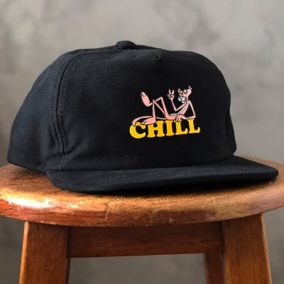 Boné Aversion Snapback Desestruturado Aba Reta Preto - Model Chill