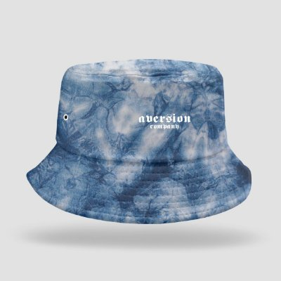 Chapéu Bucket Hat Aversion Tie Dye Azul