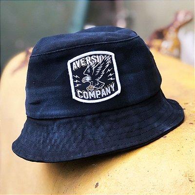 Chapéu Bucket Hat Aversion Preto Estonado - Model Eagle