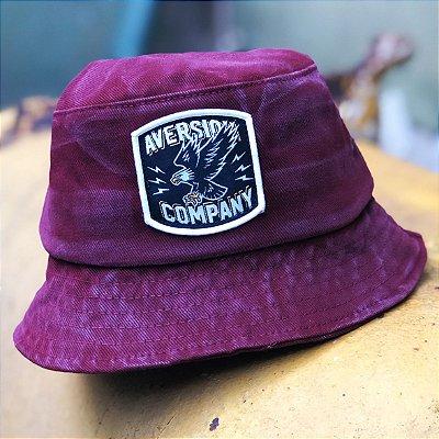 Chapéu Bucket Hat Aversion Vinho Estonado - Model Eagle