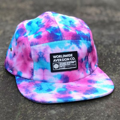 Boné Aversion Five Panel Aba Reta Tie Dye Colorido - Model Worldwide