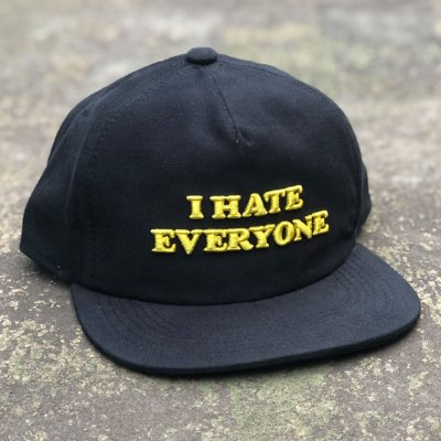 Boné Aversion Snapback Desestruturado Aba Reta Preto - Model Everyone