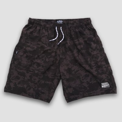 Bermuda Beach Shorts Aversion Camuflado Preto - Model Worldwide