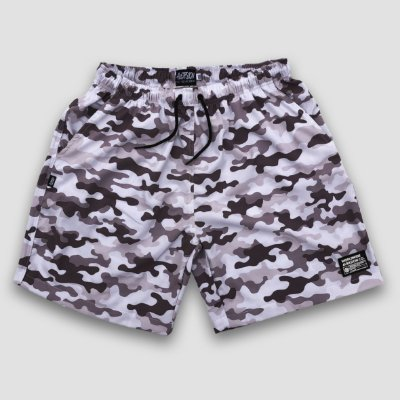 Bermuda Beach Shorts Aversion Camuflado Branco/Cinza - Model Worldwide