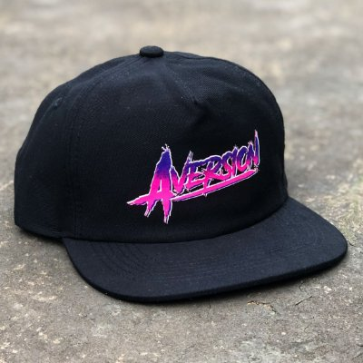 Boné Aversion Snapback Desestruturado Aba Reta Preto - Model Neon
