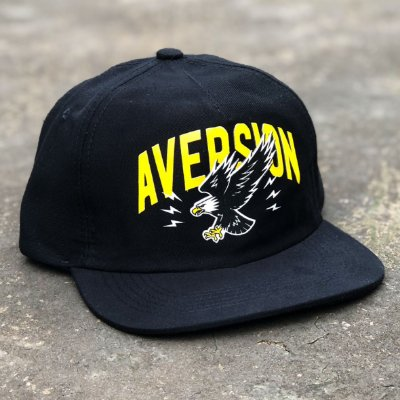 Boné Aversion Snapback Desestruturado Aba Reta Preto - Model Eagle
