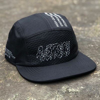 Boné Aversion Five Panel Aba Reta Preto - Model QR Code