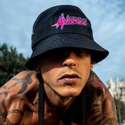 Chapéu Bucket Hat Aversion Preto - Model Neon